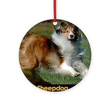 Shetland Sheepdog Cooper Round Ornament
