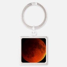 Total lunar eclipse Square Keychain