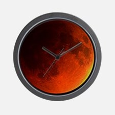 Total lunar eclipse Wall Clock