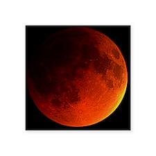 """Total lunar eclipse Square Sticker 3"""" x 3"""""""