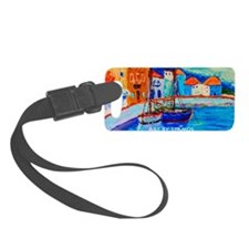 Chios Harbor Travel Mug Luggage Tag