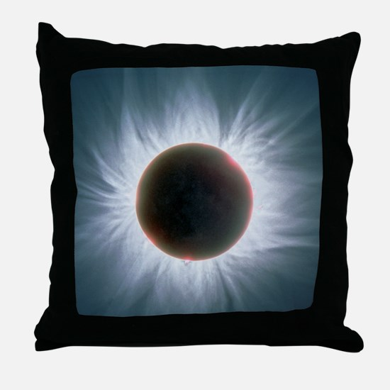 Total solar eclipse with corona Throw Pillow