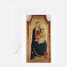 Antique Painting of Madonna and Child Greeting Car