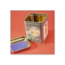 "Tin box Square Sticker 3"" x 3"""
