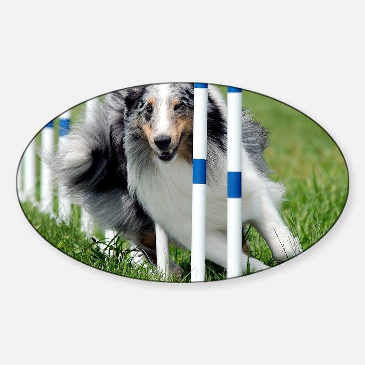 Shetland Sheepdog Blast Sticker (Oval)