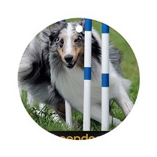 Shetland Sheepdog Blast Round Ornament