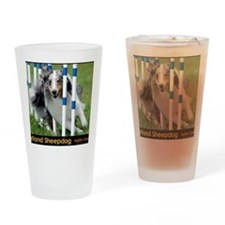 Shetland Sheepdog Blast Drinking Glass