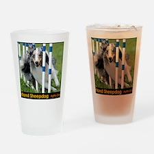 Shetland Sheepdog Blast Drinking Glass