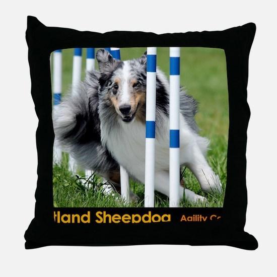 Shetland Sheepdog Blast Throw Pillow
