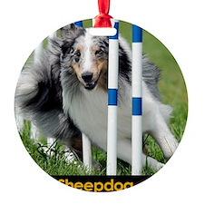 Shetland Sheepdog Blast Ornament