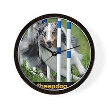 Shetland Sheepdog Blast Wall Clock