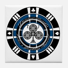 Twisted Chip of Clubs Tile Coaster