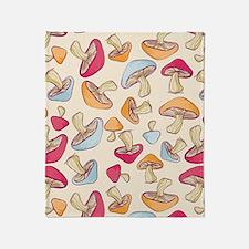 Mushroom_Cream_Large Throw Blanket