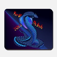 Calender Year Of The Snake-lettered Mousepad
