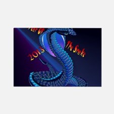 Calender Year Of The Snake-letter Rectangle Magnet