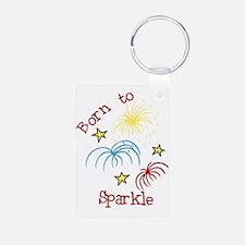 Born To Sparkle Keychains