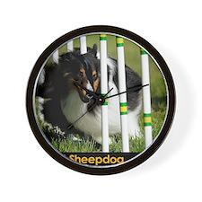 Shetland Sheepdog Jackpot Wall Clock