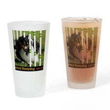 Shetland Sheepdog Jackpot Drinking Glass