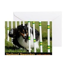 Shetland Sheepdog Jackpot Greeting Card