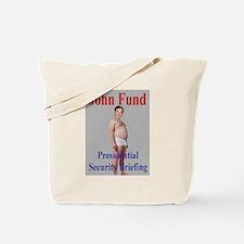 John Fund gets Briefed Tote Bag