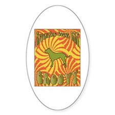 Groovy Dogos Oval Decal