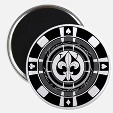 Twisted Chip of Spades Magnet
