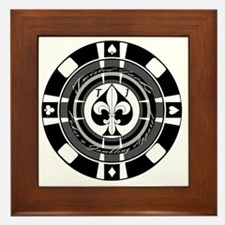 Twisted Chip of Spades Framed Tile