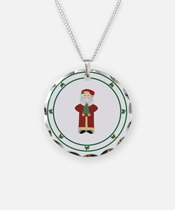 Old World Santa Red Necklace
