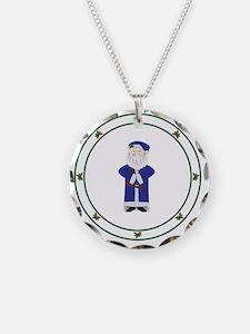 Old World Santa Blue Necklace