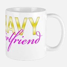 Navy Girlfriend Gold Mug