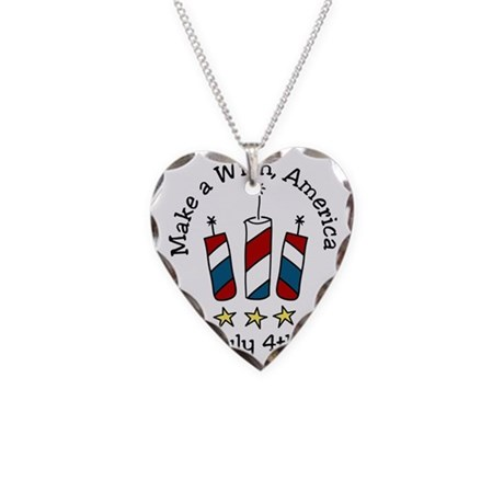 Make A Wish Necklace Heart Charm