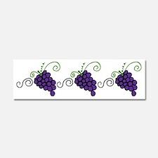 Napa Valley Grapes Car Magnet 10 x 3