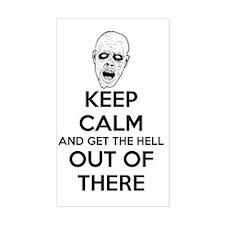 Keep Calm Zombies Decal