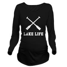Lake Life Long Sleeve Maternity T-Shirt