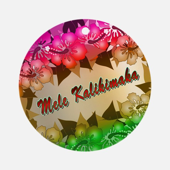 meleflowers218 Round Ornament