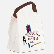 Eloped in Las Vegas Canvas Lunch Bag
