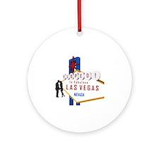 Eloped in Las Vegas Round Ornament