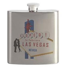 Eloped in Las Vegas Flask