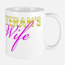 Navy Vet Wife Gold Mug