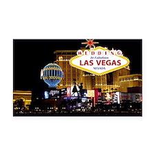 Wedding In Las Vegas Rectangle Car Magnet