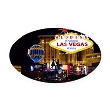 Wedding In Las Vegas Oval Car Magnet