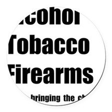 ATF Chips Round Car Magnet