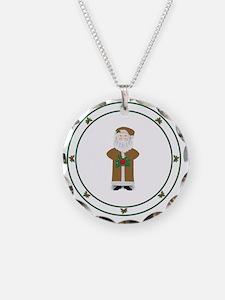 Old World Santa Brown Necklace