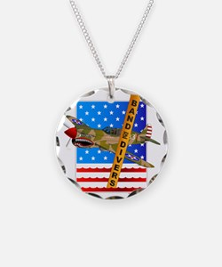 Scuba P-40 Fighter Plane Necklace