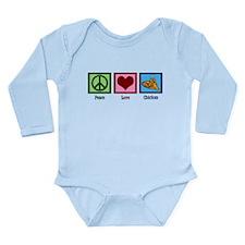 Peace Love Chicken Long Sleeve Infant Bodysuit