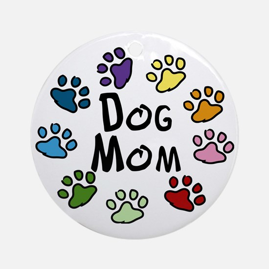 Dog Mom Round Ornament