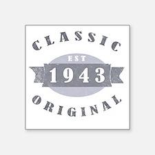"1943 Classic Original Square Sticker 3"" x 3"""