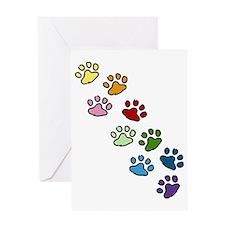 Paw Prints Greeting Card