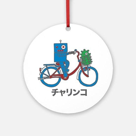 Japanese Bike Robot - Charinko Round Ornament