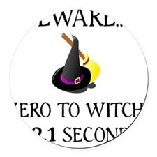 Zero To Witch Round Car Magnet